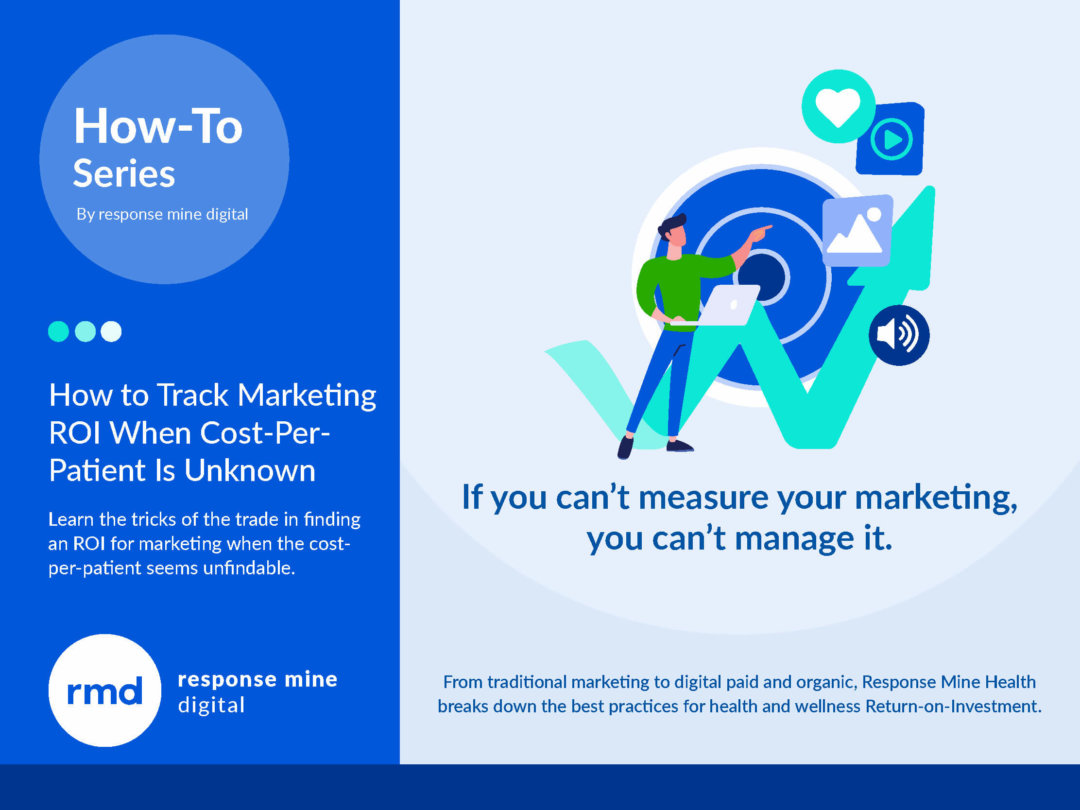 Track marketing ROI even when cost-per-patient is unkown